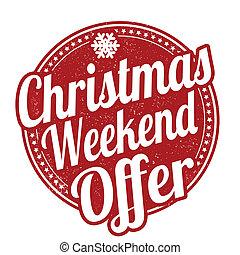 estampilla, fin de semana, navidad, oferta