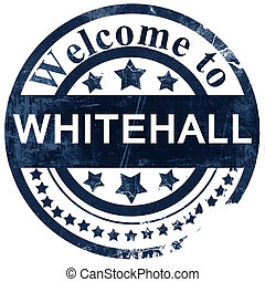 estampilla, fondo blanco, whitehall