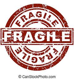 estampilla, frágil