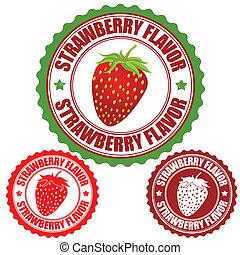 estampilla, fresa, sabor