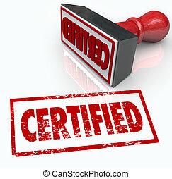 estampilla, funcionario, verificación, sello, aprobación, ...