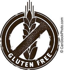 estampilla, gluten, libre