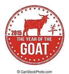 estampilla, goat, año