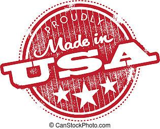 estampilla, hecho, estados unidos de américa