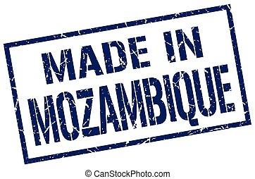 estampilla, hecho, mozambique