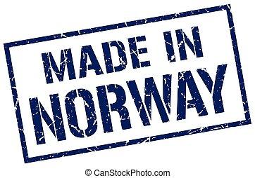 estampilla, hecho, noruega