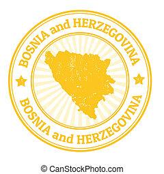 estampilla, herzegovina, bosnia