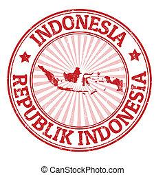estampilla, indonesia