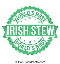 estampilla, irlandés, guisado