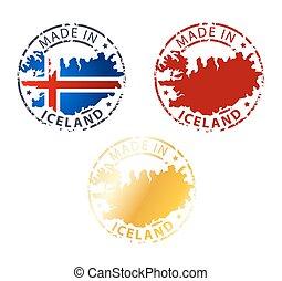 estampilla, islandia, hecho