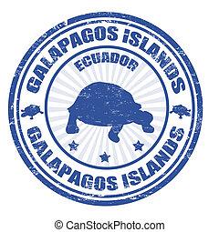 estampilla, islas, galapagos
