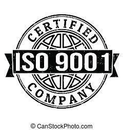 estampilla, iso, 9001, certificado