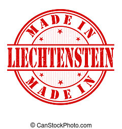 estampilla, liechtenstein, hecho
