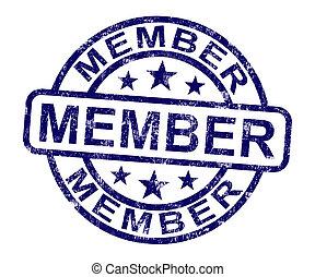 estampilla, miembro, calidad de miembro, registro,...