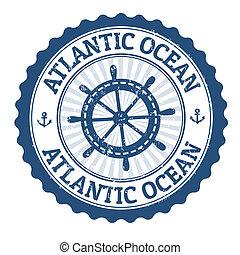 estampilla, océano atlántico