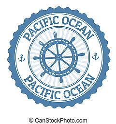estampilla, océano pacífico