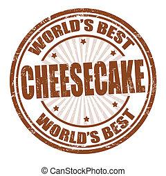 estampilla, pastel de queso