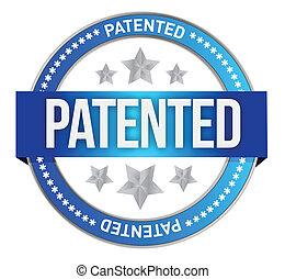 estampilla, patentado, propiedad, intelectual