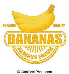 estampilla, plátanos