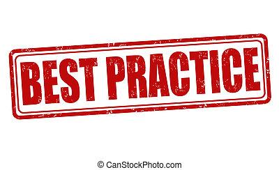 estampilla, práctica, mejor