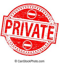estampilla, privado