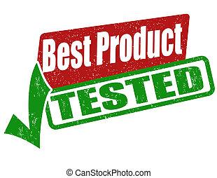 estampilla, probado, producto, mejor