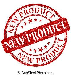 estampilla, producto nuevo, rojo