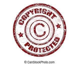 estampilla, protegido, propiedad literaria