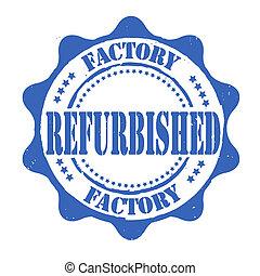 estampilla, restaurado, fábrica
