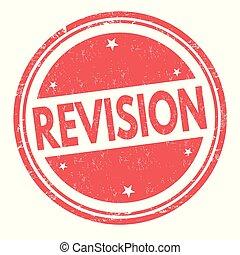 estampilla, revisión, o, señal