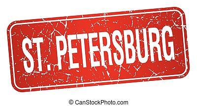estampilla, s., aislado, petersburg, plano de fondo, rojo ...