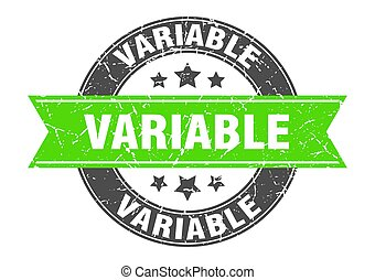 estampilla, señal, redondo, etiqueta, variable, ribbon.