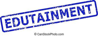estampilla, sello, rectángulo, corroído, marco, edutainment, redondeado, estilo