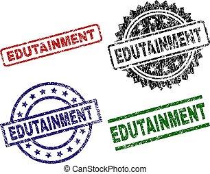 estampilla, sellos, textured, edutainment, dañado