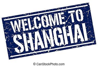 estampilla, shanghai, bienvenida