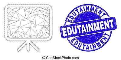 estampilla, tabla, malla, azul, edutainment, rasguñado, tela, bandera