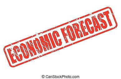 estampilla, texto, económico, rojo, pronóstico