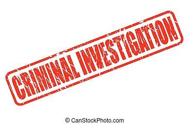 estampilla, texto, investigación criminal, rojo