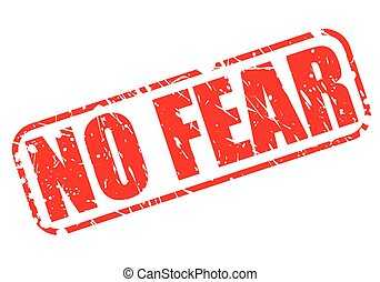 estampilla, texto, miedo, rojo, no