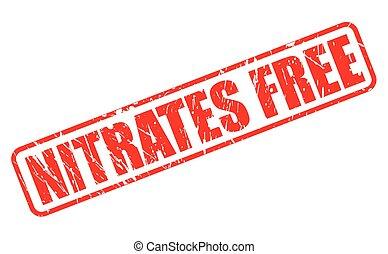 estampilla, texto, nitrates, libre, rojo