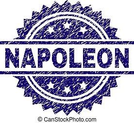 estampilla, textured, grunge, napoleon, sello