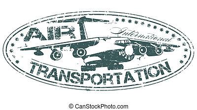 estampilla, transporte, aire