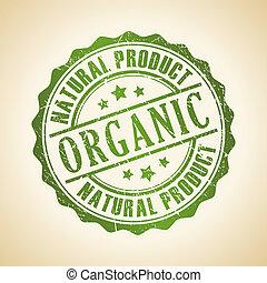 estampilla, vector, orgánico