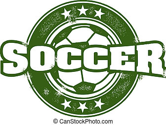 estampilla, vendimia, estilo, equipo de fútbol