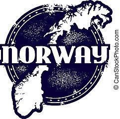 estampilla, vendimia, noruega