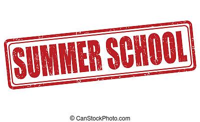 estampilla, verano, escuela