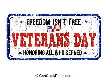 estampilla, veteranos día