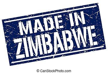 estampilla, zimbabwe, hecho
