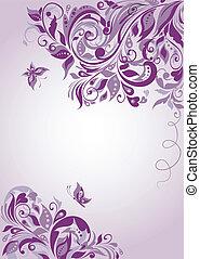 estandarte floral, violeta
