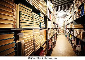 estante, biblioteca